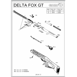 1 Gamo Delta Fox GT Despiece