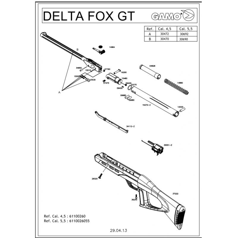 1 Gamo Delta Fox GT Despiece