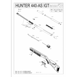1 Gamo Hunter 440 AS IGT Despiece