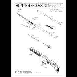 1 Gamo Hunter 440 AS IGT Despiece