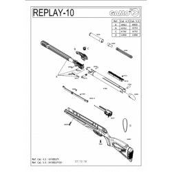1 Gamo Replay 10 Despiece