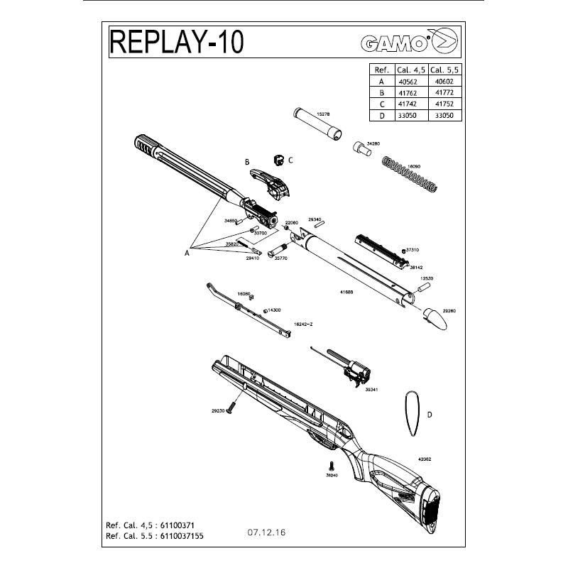 1 Gamo Replay 10 Despiece