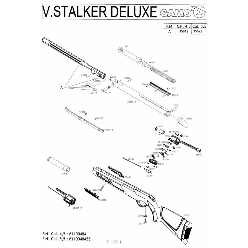 1 Gamo Stalker Deluxe Despiece