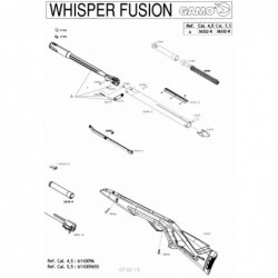 1 Gamo Whisper Fusion Despiece