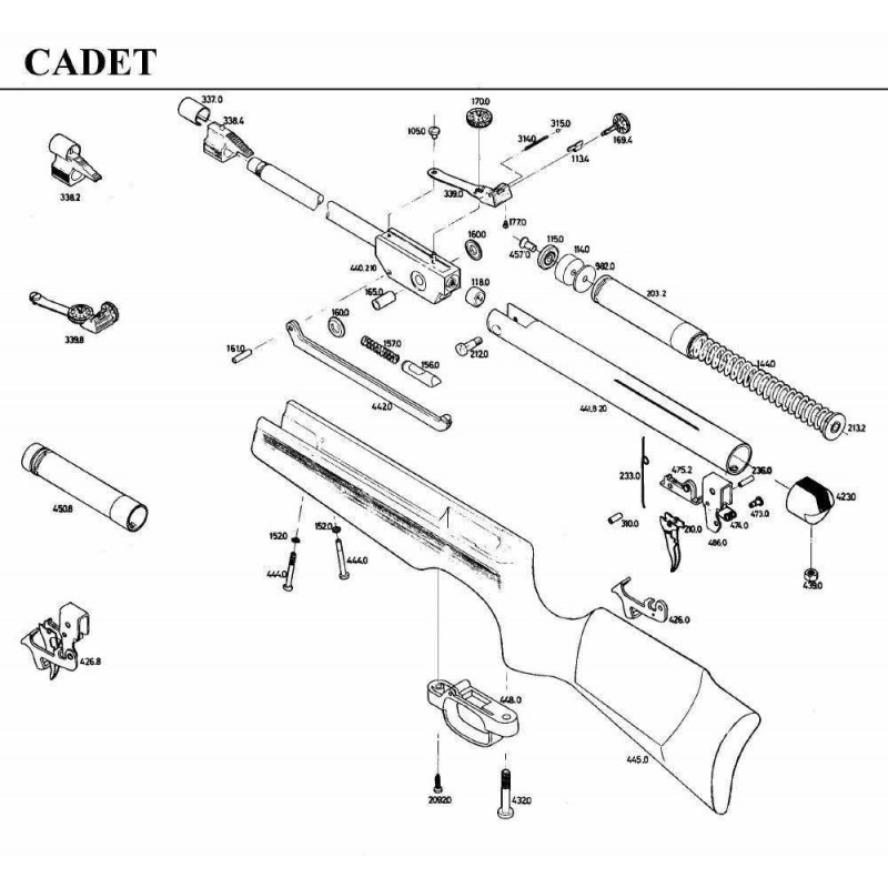 1 Gamo Cadet Despiece