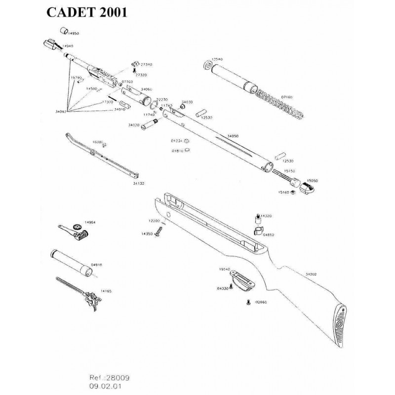 1 Gamo Cadet 2001 Despiece