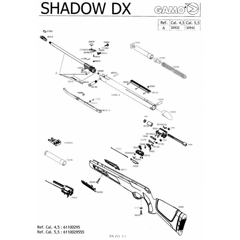 1 Gamo Shadow DX Despiece