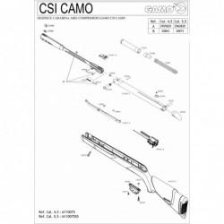 1 Gamo CSI Camo Despiece