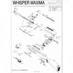 1 Gamo Whisper Maxima Despiece