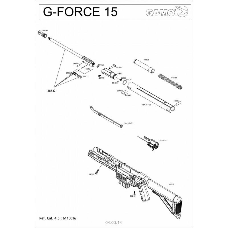 1 Gamo G-Force 15 Despiece