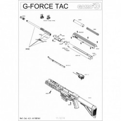 1 Gamo G-Force TAC Despiece