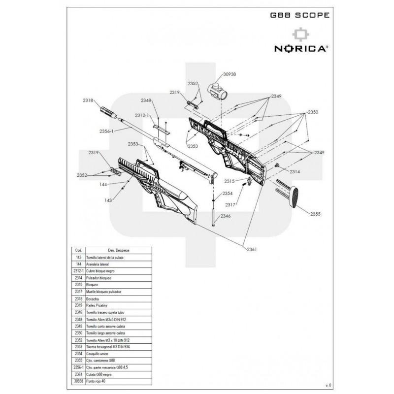 1 Norica G88 Scope Despiece