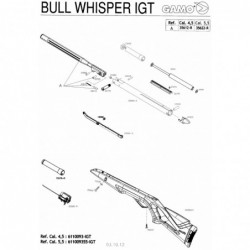 1 Gamo Bull Whisper IGT Despiece