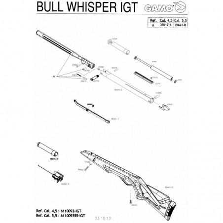 1 Gamo Bull Whisper IGT Despiece
