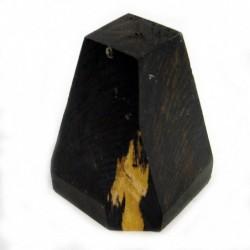 Madera Ebano negro FSC en bruto forma piramidal irregular