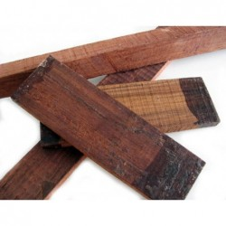 Trozo de madera Palo Violeta 390X30-20X30mm en bruto irregular