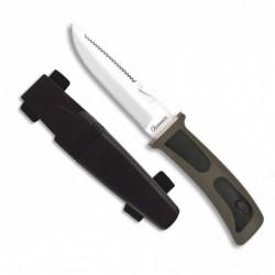 Cuchillo SUBMARINISMO ALBAINOX .Negro. H:11.5