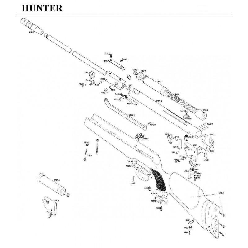 1 Gamo Hunter Despiece