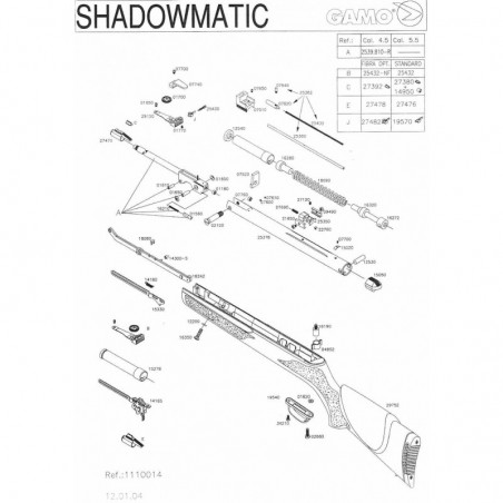 1 Gamo Shadowmatic 2004 Despiece