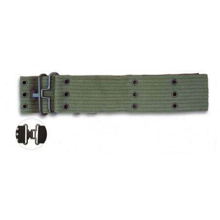 Cinturon militar verde agujeros 115x5.7 cm