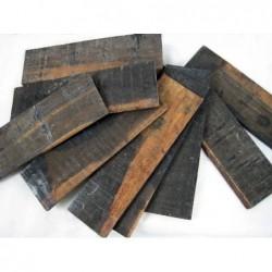 Madera Ebano negro FSC 240X70X7mm en bruto veteada