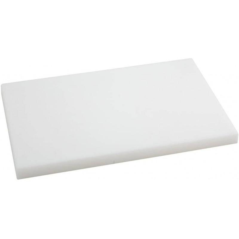 Placa Polietileno blanco 385X125x10mm.