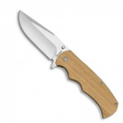 Navaja Albainox madera natural H8,8cm