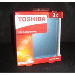 HD Toshiba 2TB Canvio Aluminium Azul
