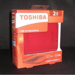 Disco duro HD Toshiba 2 TB Canvio Connet II Rojo